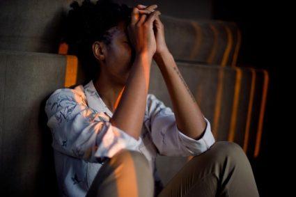 debt and financial stress: stress woman